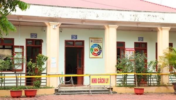 Khu vực cách ly tại Trung tâm Y tế Tam Điệp. Ảnh: Minh Quang/Báo Ninh Bình.