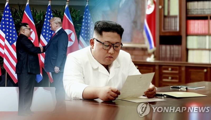 Tổng thống Trump gửi thư cho Chủ tịch Triều Tiên mời hợp tác chống COVID-19. Ảnh: Yonhap