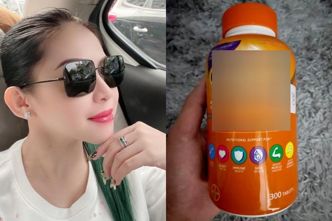 Bình Tinh kinh doanh thêm vitamin tăng cường sức khỏe các loại. Hiện tại, cửa hàng mỹ phẩm online của cô vẫn hoạt động ổn định trong dịch Covid-19.