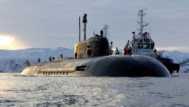 Tàu ngầm hạt nhân Orel thuộc Hạm đội Phương Bắc của Nga.