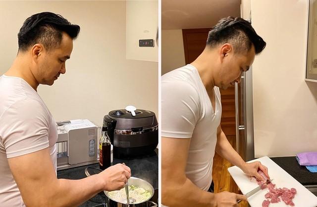 Ở nhà chống dịch, Chi Bảo thường xuyên vào bếp nấu ăn cho vợ - 5