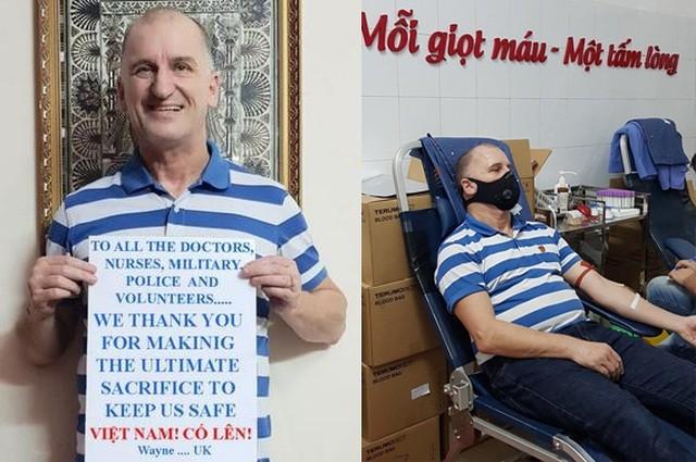 Thầy giáo người Anh hiến máu, cổ vũ Việt Nam chiến thắng đại dịch Covid-19 - 7