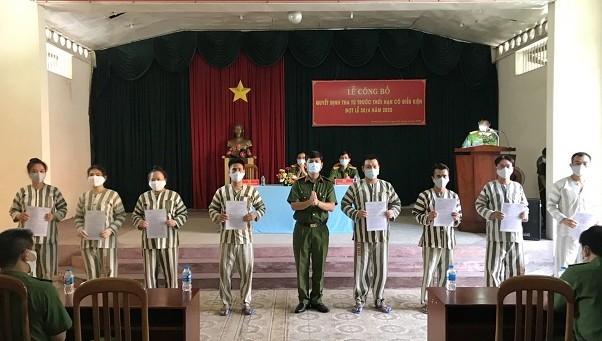 Tha tù trước thời hạn 40 phạm nhân tại TP HCM