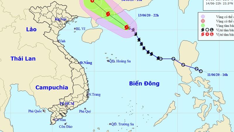 Bão giật cấp 11 gần Hoàng Sa, miền Bắc mưa giông lớn đến đầu tuần