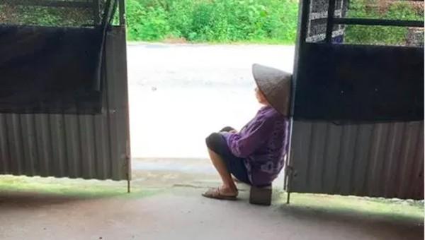 Xót lòng chuyện sau hình ảnh cụ bà chiều chiều kê ghế ra cửa ngồi