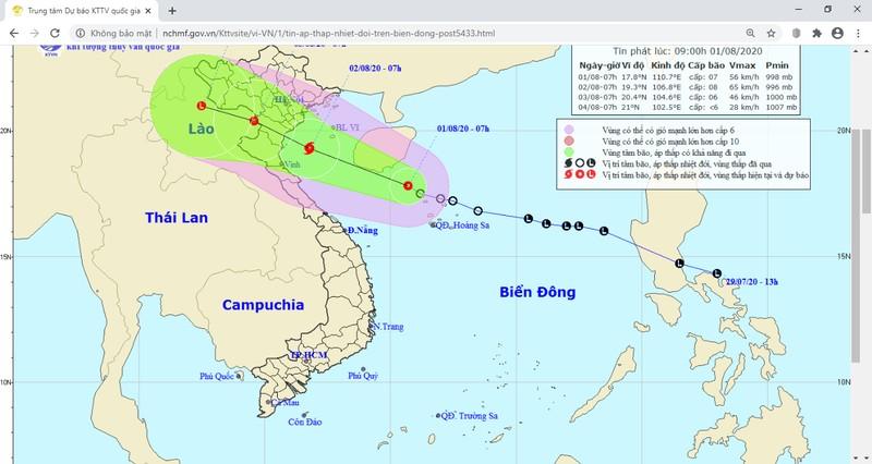 ATNĐ sắp thành bão hướng vào đất liền, 'đe dọa' Quảng Ninh - Hà Tĩnh