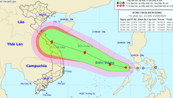 ATNĐ hoành hành biển Đông, Hà Tĩnh - Quảng Ngãi cần đề phòng bão