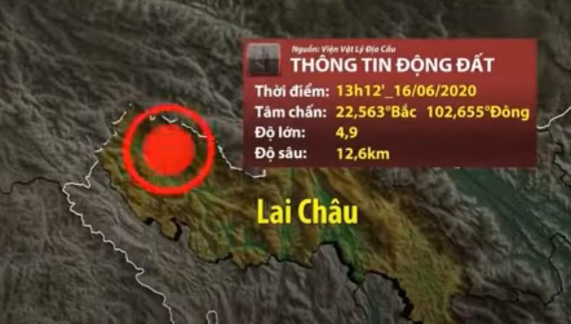 Động đất 4,9 độ richter tại Lai Châu, trần lớp học rơi trúng 2 học sinh