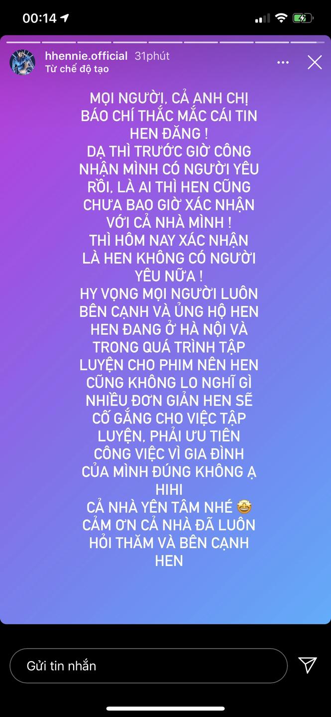 H'Hen Niê bất ngờ lên tiếng xác nhận chia tay bạn trai vào giữa đêm khiến fans hoang mang - ảnh 1