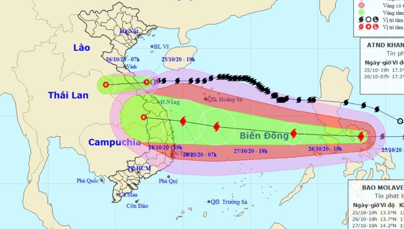 ATNĐ 'dội' mưa xuống Nghệ An - Quảng Trị, bão giật cấp 14-15 sắp đổ bộ Biển Đông