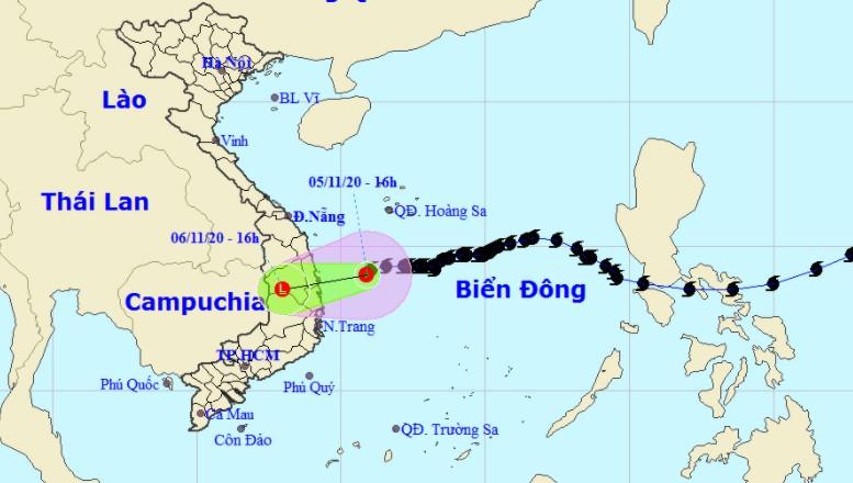 Bão suy yếu thành áp thấp nhiệt đới trên biển, sắp đi vào Quảng Ngãi - Phú Yên