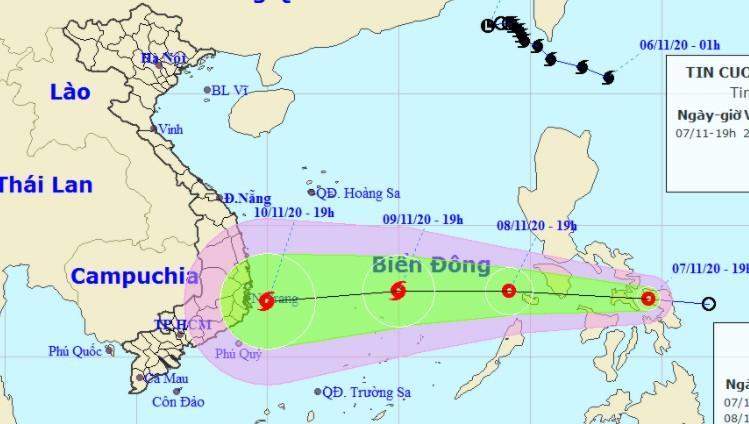 ATNĐ không ngừng mạnh thêm sắp đổ bộ Biển Đông, tâm hướng vào Quảng Ngãi - Ninh Thuận