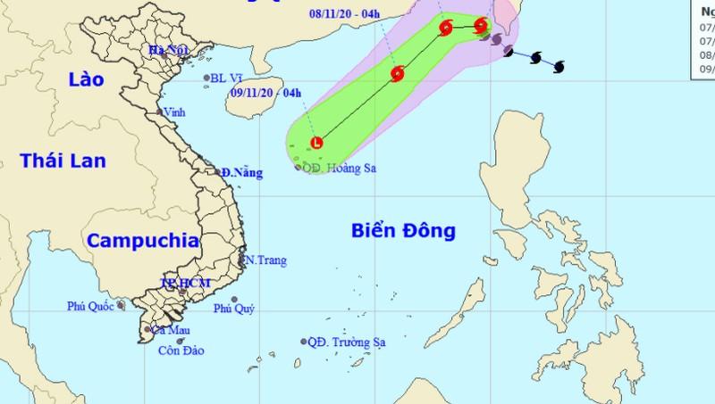 Diễn biến cơn bão mới đổ bộ Biển Đông