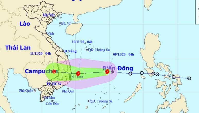Bão số 12 tiếp tục mạnh lên, Quảng Ngãi - Ninh Thuận và Tây nguyên mưa lớn