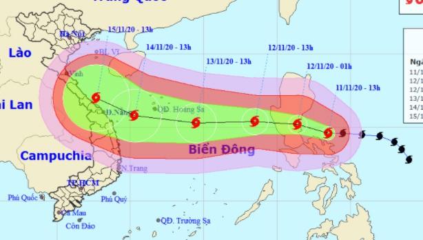 Bão giật cấp 15 tiến nhanh vào Biển Đông, vùng ảnh hưởng có thể bao trùm Khánh Hòa - Hải Phòng