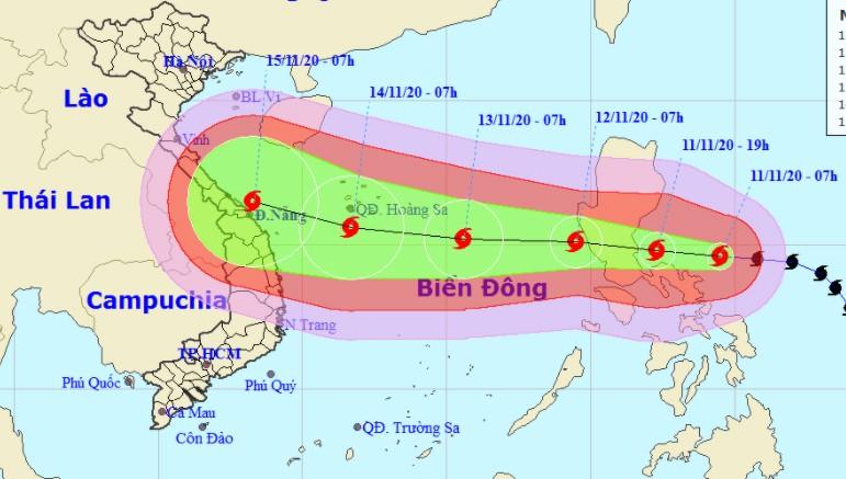 Sáng mai bão số 13 đổ bộ Biển Đông, miền Trung cần sớm có phương án ứng phó