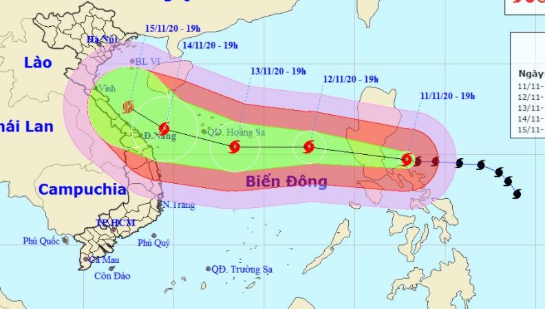 Bão tăng cấp tiến sát Biển Đông, Thanh Hóa - Bình Thuận cần chủ động ứng phó
