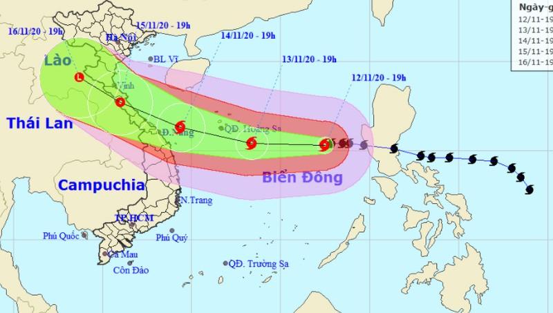 Bão vẫn giật cấp 15 quần thảo Biển Đông, sóng cao 8-10m, tâm hướng vào Hà Tĩnh - Thừa Thiên Huế