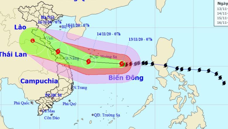 Bão gần đến Hoàng Sa, vùng biển Hà Tĩnh - Quảng Ngãi động rất mạnh, đất liền sẽ mưa to
