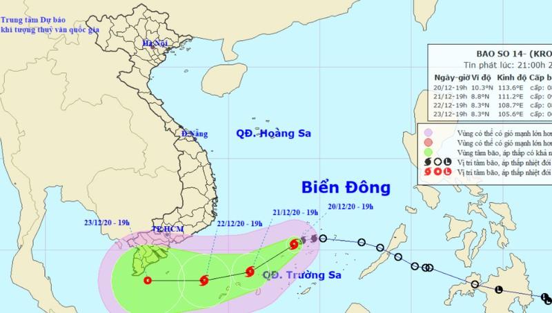 Bão giật cấp 10 trên Biển Đông, đề phòng sóng cao 7-8m