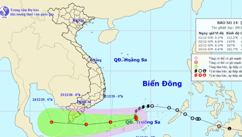 Bão giật cấp 10 sẽ suy yếu trên biển, Cà Mau đề phòng ảnh hưởng áp thấp