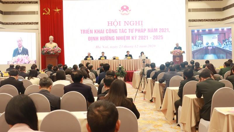 Thủ tướng dự Hội nghị triển khai công tác tư pháp năm 2021