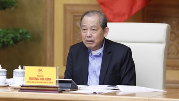 Phó Thủ tướng Trương Hòa Bình chủ trì phiên họp. Ảnh: VGP/Nguyễn Hoàng.