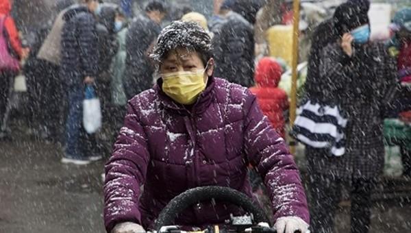 Trung Quốc nối lại cảnh báo màu cam về đợt không khí lạnh mạnh