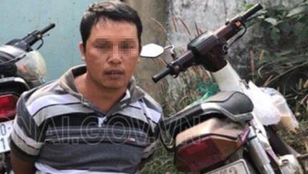 Nghi phạm Nguyễn Thái Bình và tang vật.
