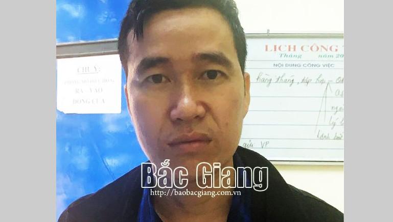Đối tượng Nguyễn Văn Kiên. Ảnh: Báo Bắc Giang