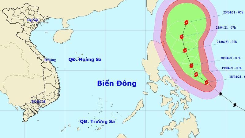 Cập nhật về siêu bão gần biển Đông