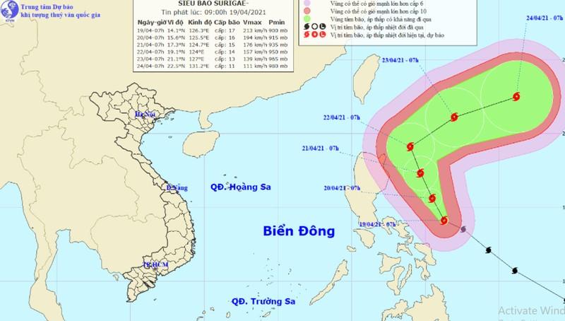 Tin mới nhất về siêu bão gần biển Đông