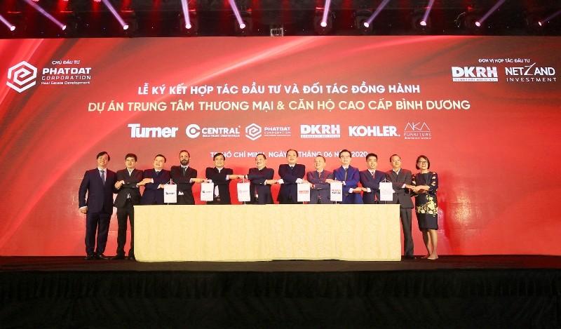 Các bên chính thức ký kết hợp tác đầu tư và phát triển dự án Trung tâm thương mại & Căn hộ cao cấp Bình Dương