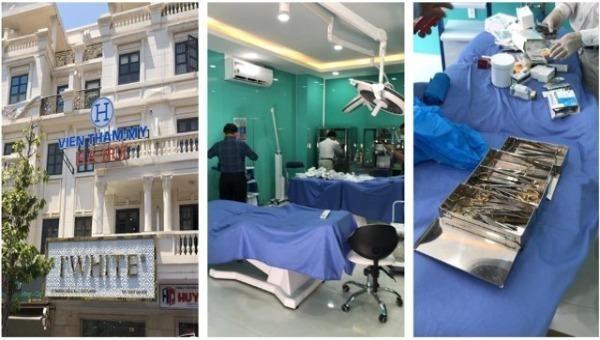 """""""Viện thẩm mỹ Hà Nội"""" bị Sở Y tế TP HCM kiểm tra ngày 10/3. Ảnh: Sở Y tế TP HCM"""