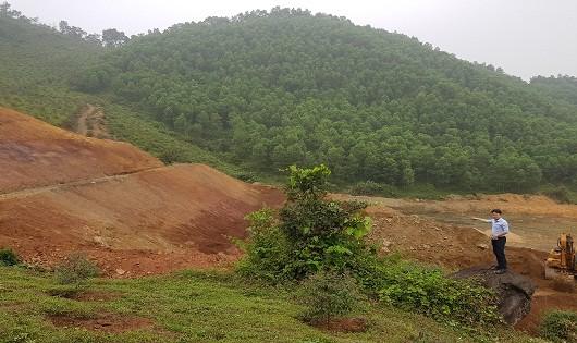 Hiện trường thi công dự án khu tập kết rác thải tập trung huyện Yên Lập, tỉnh Phú Thọ.