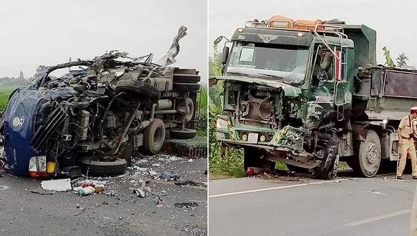 Hiện trường vụ tai nạn (Ảnh: Facebook).