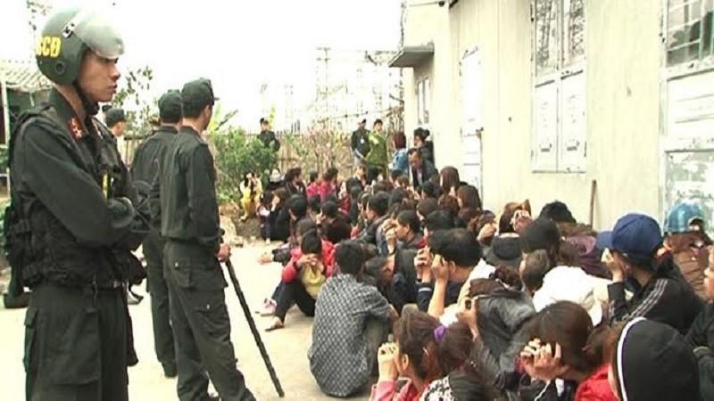 """Bộ Công an triệt phá sới bạc """"khủng"""" ở Lào Cai bắt giữ 77 đối tượng"""