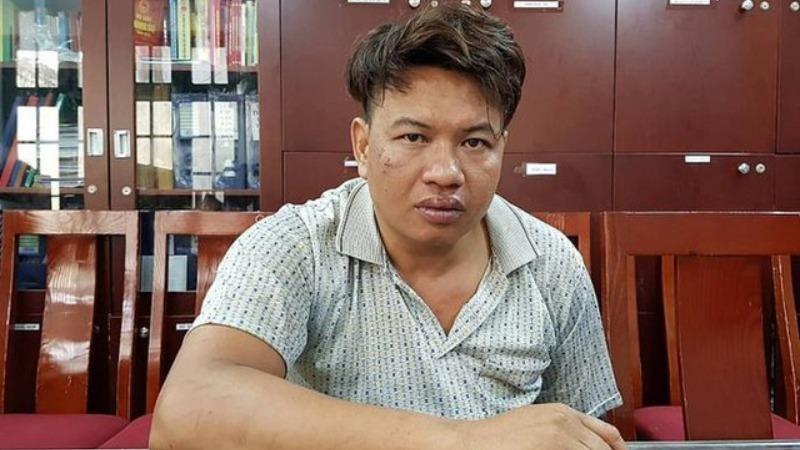 Đối tượng Đỗ Văn Bình khi bị bắt giữ