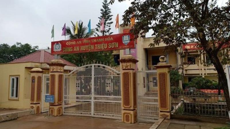 Trụ sở Công an huyện Triệu Sơn.