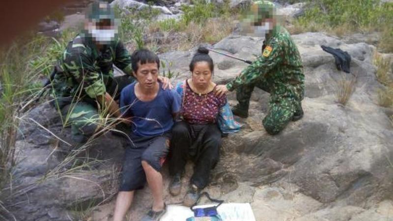 Thào A Dế và Sùng Thị Dợ khi bị bắt giữ