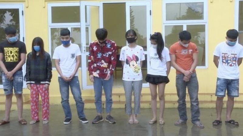 Bắt quả tang nhóm thanh niên tụ tập sử dụng ma túy giữa lúc dịch lây lan