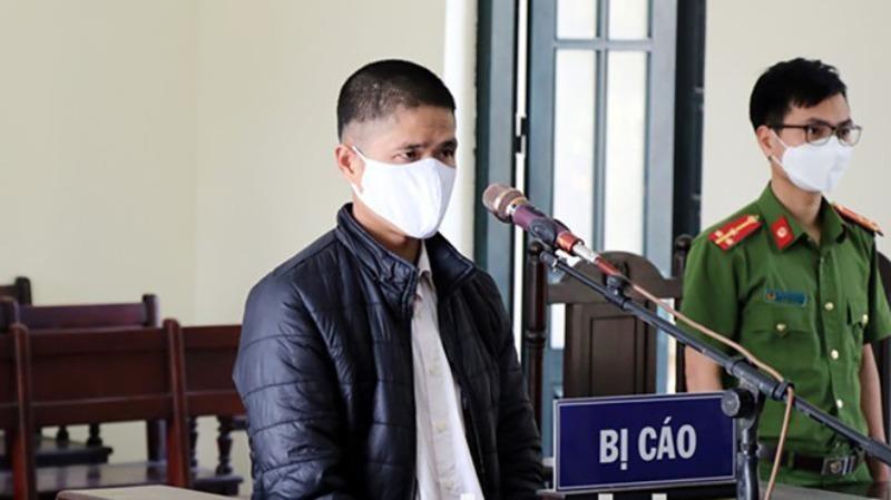 Nguyễn Văn Quýnh tại phiên tòa xét xử ngày 14/4 (Ảnh: Công an Bắc Ninh)