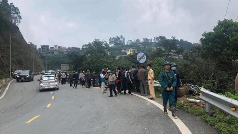 Khu vực xảy ra vụ tai nạn giao thông nghiêm trọng