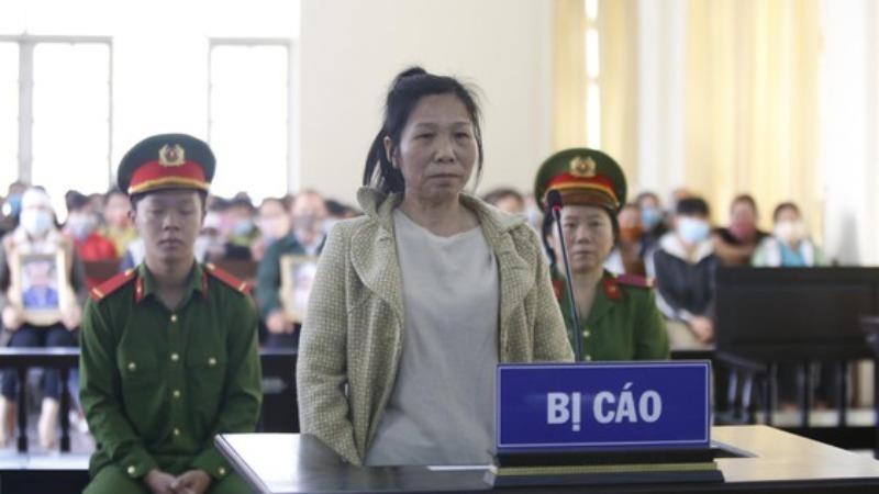 Nghiêm Thị Nhi tại phiên tòa xét xử