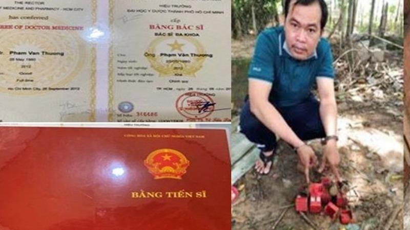 Đối tượng Phạm Văn Thương cùng tang vật