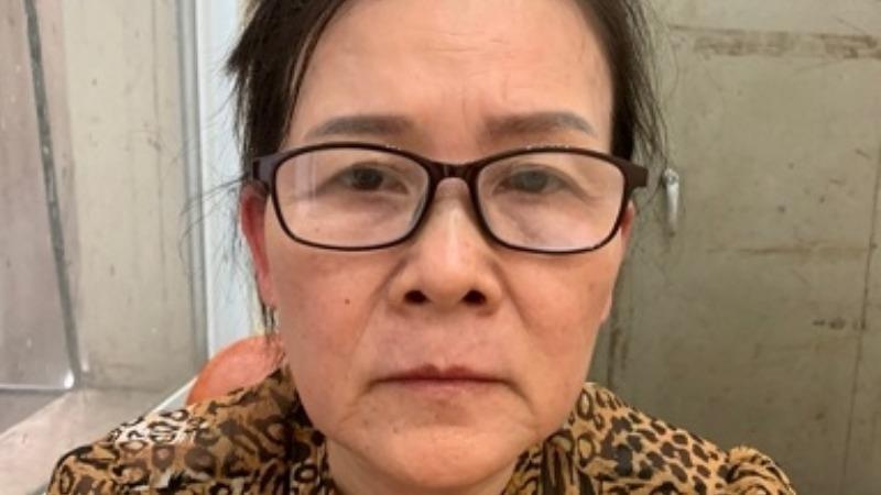 Vũ Thị Thái Hòa tại cơ quan Công an (Ảnh: Bộ Công an)