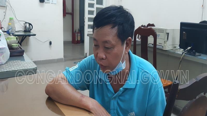 Nguyễn Văn Hậu tại cơ quan Công an (Ảnh: Công an Đồng Nai)