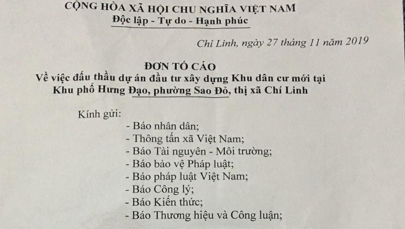 """Chí Linh (Hải Dương): Doanh nghiệp """"tố"""" hồ sơ mời thầu dự án có dấu hiệu """"khuất tất"""" so với thực tế"""