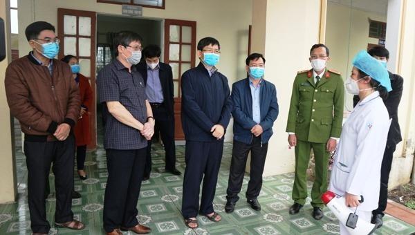 Phó Chủ tịch UBND tỉnh Hải Dương kiểm tra dịch bệnh tại huyện Thanh Miện