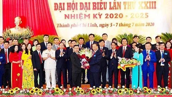Ông Hoàng Quốc Thưởng tái Bí thư Thành ủy Chí Linh